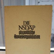 Libros de segunda mano: DIE NSDAP ALS POLITISCHE AUSLESEORGANISATION, HELMUT MEHRINGER. BERLIN 1938. HITLER. NAZI. Lote 204360837