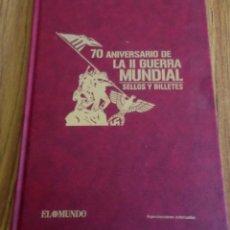 Libros de segunda mano: 70 ANIVERSARIO DE LA II GUERRA MUNDIAL - SELLOS Y BILLETES - COMPLETO. Lote 205740508