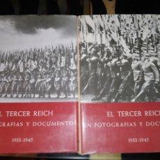 Libros de segunda mano: 2 LIBROS EL TERCER REICH FOTOGRAFÍAS Y DOCUMENTOS. PLAZA & JANÉS. 1976. Lote 205794586