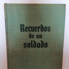 Libros de segunda mano: RECUERDOS DE UN SOLDADO, DE GENERAL GUDERIAN.. Lote 207137845