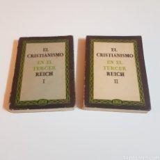 Livros em segunda mão: EL CRISTIANISMO EN EL TERCER REICH TOMOS I II - TESTIS FIDELIS 1941. Lote 207523442