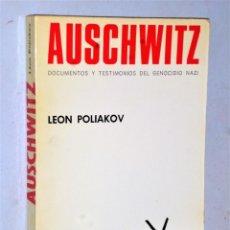 Libros de segunda mano: AUSCHWITZ. DOCUMENTOS Y TESTIMONIOS DEL GENOCIDIO NAZI. Lote 207676741