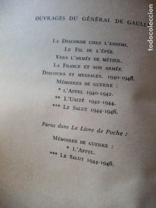 Libros de segunda mano: Memoires de Guerre. Lunite 1942 - 1944 - Charles de Gaulle,en frances - Foto 3 - 209874606