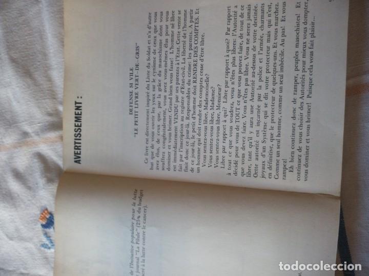 Libros de segunda mano: le petit livre vert-de gris narcisse rené praz,1973 en frances - Foto 4 - 209874970