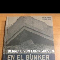 Libros de segunda mano: MEMORIAS DE GUERRA. EN EL BÚNKER CON HITLER. Lote 213858705