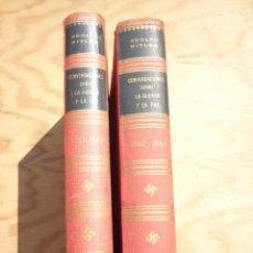 Libros de segunda mano: CONVERSACIONES SOBRE LA GUERRA Y LA PAZ - ADOLFO HITLER. Lote 214536987