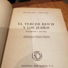 Libros de segunda mano: EL TERCER REICH Y LOS JUDIOS. Lote 216851936