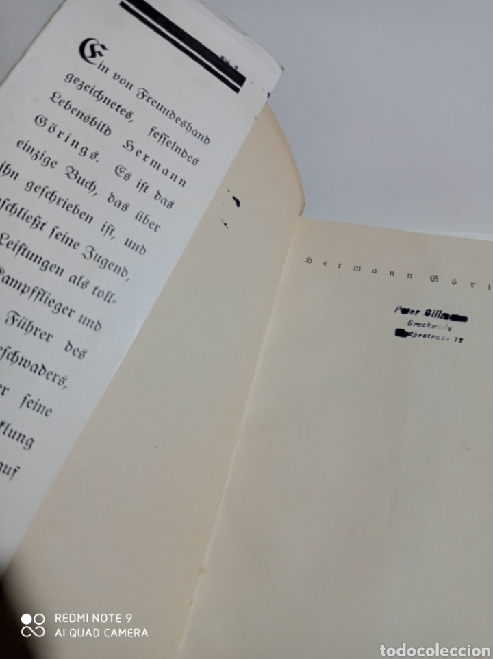 Libros de segunda mano: Hermann Göring lote RARO! Luftwaffe Alemania nazi Wehrmacht esvástica Adolf Hitler WWII - Foto 5 - 218846386
