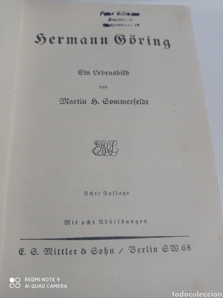 Libros de segunda mano: Hermann Göring lote RARO! Luftwaffe Alemania nazi Wehrmacht esvástica Adolf Hitler WWII - Foto 6 - 218846386