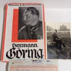 Libros de segunda mano: HERMANN GÖRING LOTE RARO! LUFTWAFFE ALEMANIA NAZI WEHRMACHT ESVÁSTICA ADOLF HITLER WWII. Lote 218846386