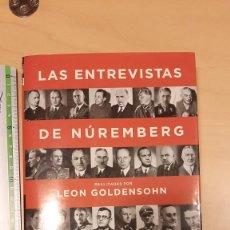 Libros de segunda mano: LAS ENTREVISTAS DE NUREMBERG - LEON GOLDENSOHN. Lote 221547288