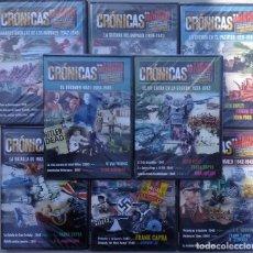 Libros de segunda mano: 8 DVDS CRONICAS DE LA II GUERRA MUNDIAL REALIZADA POR LOS GRANDES DIRECTORES DE HOLLYWOOD. Lote 221927572