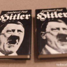 Libros de segunda mano: II GUERRA MUNDIAL.....HITLER......DOS TOMOS....JOACHIM C. FEST......1974.... Lote 221946782