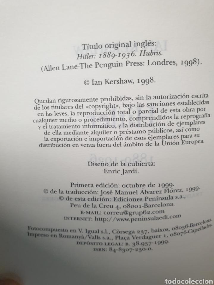 Libros de segunda mano: Ian Kershaw Hitler 1889 - 1936 Editorial Península Atalaya - Foto 3 - 221959016