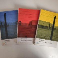 Libros de segunda mano: LIBROS. PRIMO LEVI. LA TREGUA, SI ESTO ES UN HOMBRE, LOS HUNDIDOS Y LOS SALVADOS. TRILOGIA AUSCHWITZ. Lote 222148256