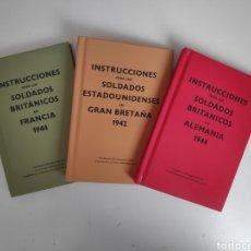 Libros de segunda mano: LIBROS. INSTRUCCIONES PARA SOLDADOS BRITANICOS Y ESTADOUNIDENSES. SEGUNDA GUERRA MUNDIAL. Lote 222155410