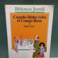 Libros de segunda mano: CUANDO HITLER ROBÓ EL CONEJO ROSA DE JUDITH KERR EDITORIAL SALVAT 1971. Lote 225076296