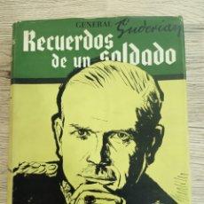 """Libros de segunda mano: GENERAL GUDERIAN """"RECUERDOS DE UN SOLDADO"""".. Lote 225757170"""