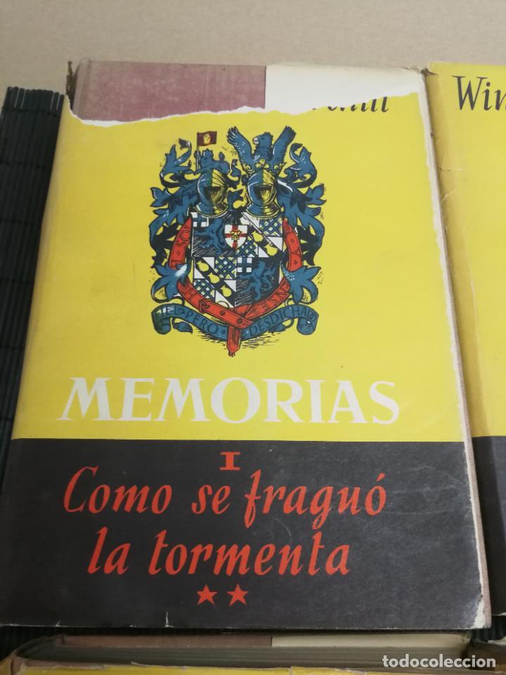 Libros de segunda mano: MEMORIAS LA SEGUNDA GUERRA MUNDIAL DE WINSTON S. CHURCHILL (8 TOMOS) 1ª EDICION 1949 - Foto 2 - 227847245