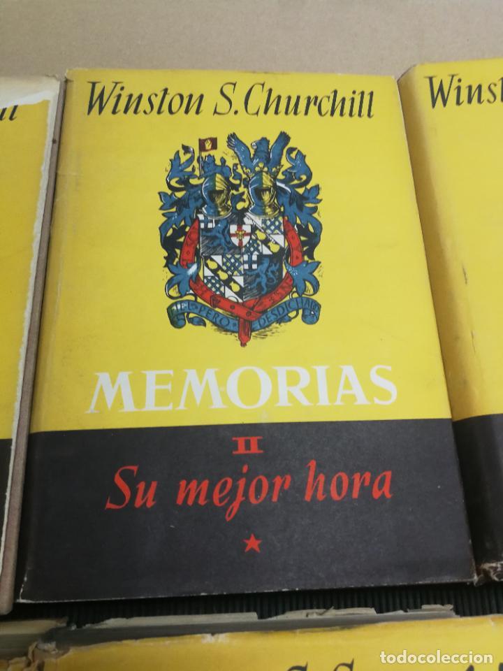 Libros de segunda mano: MEMORIAS LA SEGUNDA GUERRA MUNDIAL DE WINSTON S. CHURCHILL (8 TOMOS) 1ª EDICION 1949 - Foto 3 - 227847245