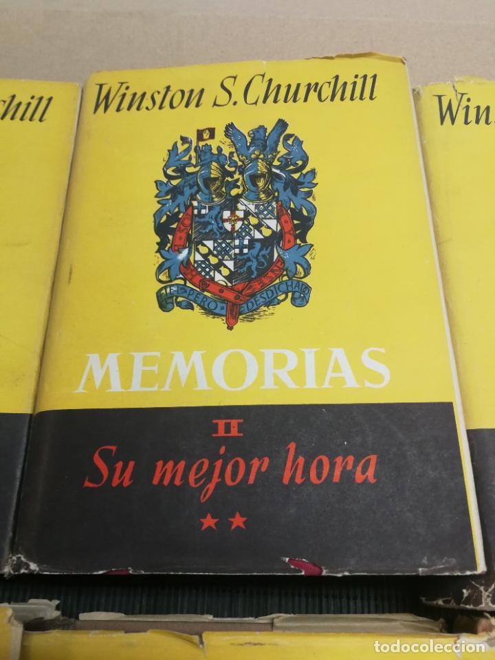 Libros de segunda mano: MEMORIAS LA SEGUNDA GUERRA MUNDIAL DE WINSTON S. CHURCHILL (8 TOMOS) 1ª EDICION 1949 - Foto 4 - 227847245