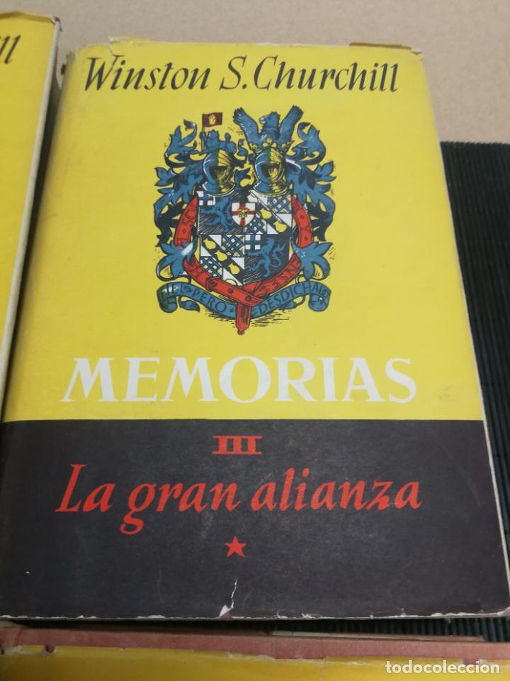 Libros de segunda mano: MEMORIAS LA SEGUNDA GUERRA MUNDIAL DE WINSTON S. CHURCHILL (8 TOMOS) 1ª EDICION 1949 - Foto 5 - 227847245