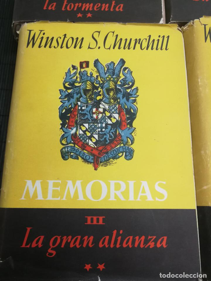Libros de segunda mano: MEMORIAS LA SEGUNDA GUERRA MUNDIAL DE WINSTON S. CHURCHILL (8 TOMOS) 1ª EDICION 1949 - Foto 6 - 227847245