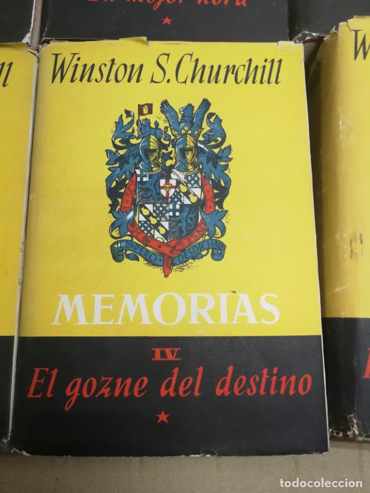 Libros de segunda mano: MEMORIAS LA SEGUNDA GUERRA MUNDIAL DE WINSTON S. CHURCHILL (8 TOMOS) 1ª EDICION 1949 - Foto 7 - 227847245