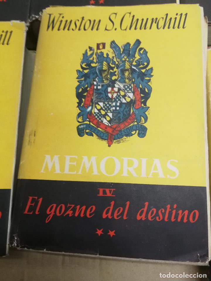Libros de segunda mano: MEMORIAS LA SEGUNDA GUERRA MUNDIAL DE WINSTON S. CHURCHILL (8 TOMOS) 1ª EDICION 1949 - Foto 8 - 227847245