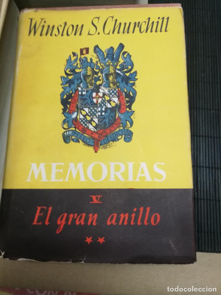 Libros de segunda mano: MEMORIAS LA SEGUNDA GUERRA MUNDIAL DE WINSTON S. CHURCHILL (8 TOMOS) 1ª EDICION 1949 - Foto 9 - 227847245