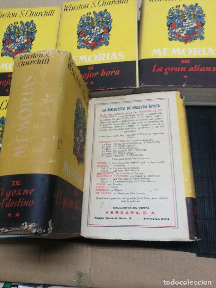 Libros de segunda mano: MEMORIAS LA SEGUNDA GUERRA MUNDIAL DE WINSTON S. CHURCHILL (8 TOMOS) 1ª EDICION 1949 - Foto 10 - 227847245