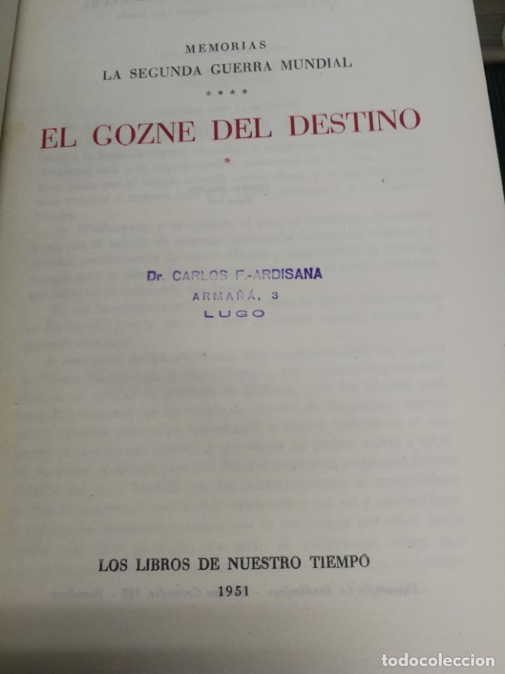 Libros de segunda mano: MEMORIAS LA SEGUNDA GUERRA MUNDIAL DE WINSTON S. CHURCHILL (8 TOMOS) 1ª EDICION 1949 - Foto 13 - 227847245