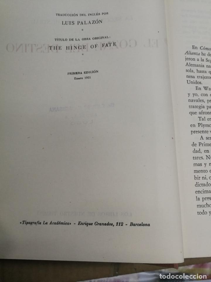 Libros de segunda mano: MEMORIAS LA SEGUNDA GUERRA MUNDIAL DE WINSTON S. CHURCHILL (8 TOMOS) 1ª EDICION 1949 - Foto 14 - 227847245