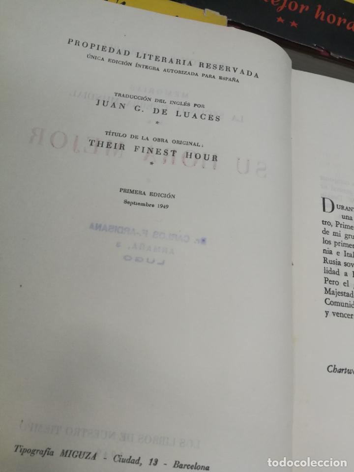 Libros de segunda mano: MEMORIAS LA SEGUNDA GUERRA MUNDIAL DE WINSTON S. CHURCHILL (8 TOMOS) 1ª EDICION 1949 - Foto 16 - 227847245