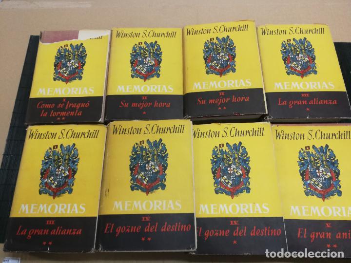 MEMORIAS LA SEGUNDA GUERRA MUNDIAL DE WINSTON S. CHURCHILL (8 TOMOS) 1ª EDICION 1949 (Libros de Segunda Mano - Historia - Segunda Guerra Mundial)