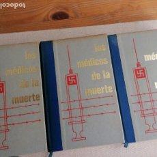 Libros de segunda mano: LOS MÉDICOS DE LA MUERTE. JEAN DUMONT. AMIGOS DE LA HISTORIA. 3 VOL. 1976. Lote 228384155
