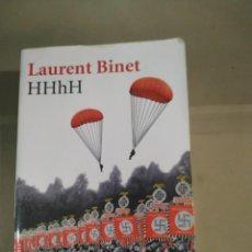 Libros de segunda mano: HHHH - LAURENT BINET. TAPA BLANDA. Lote 230119505