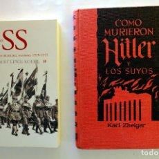 Libros de segunda mano: LAS SS CUERPO DE ÉLITE DEL NAZISMO + COMO MURIERON HITLER Y LO SUYOS. Lote 231775810