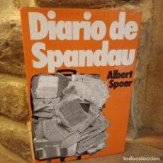 Libros de segunda mano: DIARIO DE SPANDOU, ALBERT SPEER, HISTORIA / HISTORY, MUNDO ACTUAL DE EDICIONES, 1976. Lote 232739585