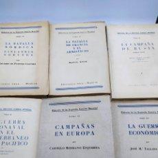 Libros de segunda mano: HISTORIA DE LA SEGUNDA GUERRA MUNDIAL EDICIONES IDEA 1948 6 TOMOS. Lote 236199505