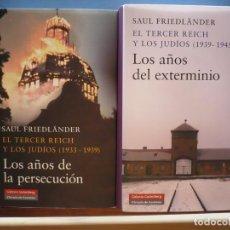 Libros de segunda mano: EL TERCER REICH Y LOS JUDIOS. SAUL FRIEDLÄNDER. 2 VOLÚMENES, GALAXIA GUTENBERG.. Lote 236520940