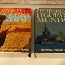 Libros de segunda mano: HISTORIA DE LA II GUERRA MUNDIAL. TESTIMONIO COMPLETO EN FOTOGRAFIAS Y RELATOS. 2 TOMOS. Lote 240237090