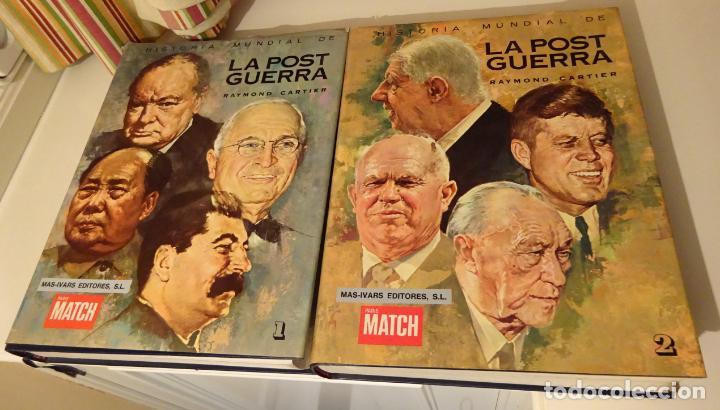 Libros de segunda mano: HISTORIA MUNDIAL DE LA POST GUERRA. RAYMOND,CARTIER. 2 TOMOS. MAS-IVARS PARIS MATCH - Foto 2 - 241090210