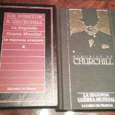 Libros de segunda mano: 2 LIBROS DE WINSTON CHURCHILL DE LA II GUERRA MUNDIAL. Lote 241795760