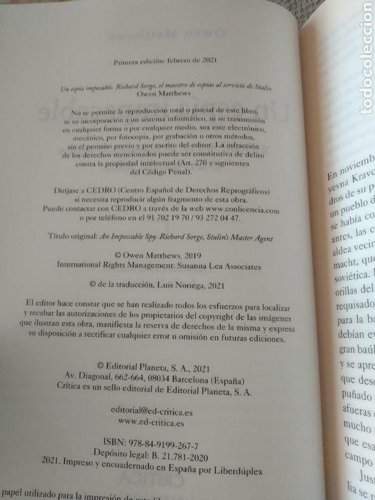 Libros de segunda mano: Un espía impecable Richard Sorge, el maestro de espías al servicio de Stalin Owen Matthews - Foto 5 - 241715585