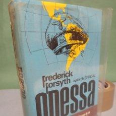 Libros de segunda mano: ODESSA POR FREDERICK FORSYTH PLAZA & JANES, S. A. CUARTA EDICIÓN 1973. Lote 243173730