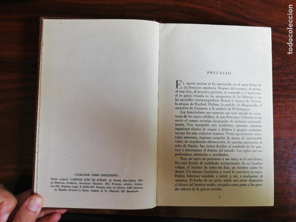 Libros de segunda mano: KOCH, EL ESPÍA JUDÍO DE HITLER. MICHAEL BAR-ZOHAR.. 1ª EDIC. 1971 - Foto 5 - 253258430