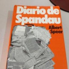 Libros de segunda mano: ALBERT SPEER. DIARIO DE SPANDAU. MUNDO ACTUAL DE EDICIÓNES 1976 REF. UR. Lote 253288365