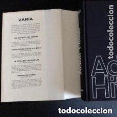Libros de segunda mano: 1966 1ª EDICION ADOLF HITLER DE GISEVIUS ILUSTRADO. Lote 254907000