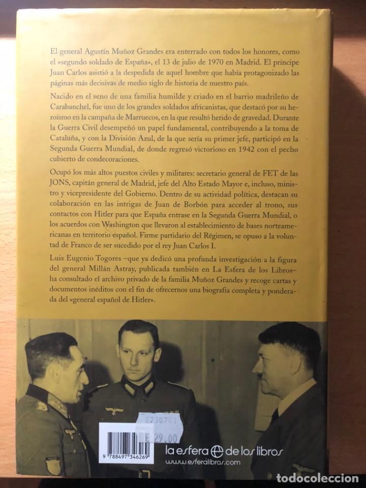 Libros de segunda mano: Muñoz Grandes. Héroe de Marruecos, General de la División Azul. Luis E. Togorres. Nazismo - Foto 2 - 255978835